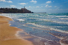 The beach of Tel Aviv and Jaffa Royalty Free Stock Image