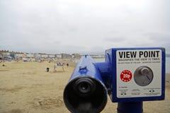 Beach telescope Royalty Free Stock Images