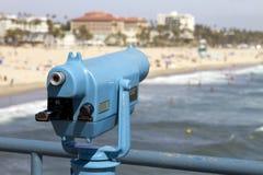 Beach Telescope Viewer Vending Stock Images