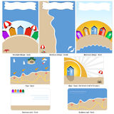 Beach template design Royalty Free Stock Photos