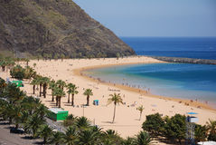 Beach at tenerife stock photos
