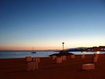 Beach at Tenerife Canary Islands Spain. Tenerife Island Beach Sunset Arona Stock Photography