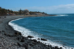 Beach on Tenerife, Canary, Spain, Europe. Beautiful beach on the canarian island Tenerife which belongs to Spain in Europe Stock Images