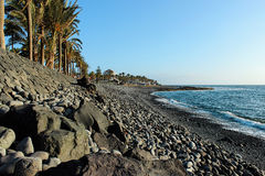 Beach on Tenerife, Canary, Spain, Europe. Beautiful beach on the canarian island Tenerife which belongs to Spain in Europe royalty free stock photos