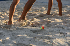 Beach tennis Stock Images