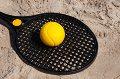 Beach tennis racket Royalty Free Stock Photo