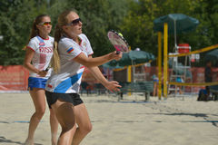 Beach Tennis World Team Championship 2014 Stock Photos
