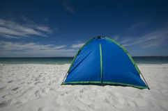 The Beach Tent. Tent on a tropical beach Royalty Free Stock Image