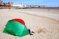 Beach tent, Bridlington, Yorkshire. Stock Image