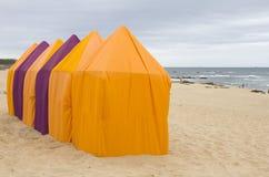 Beach tents Royalty Free Stock Photos