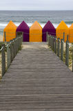 Beach tents Stock Images