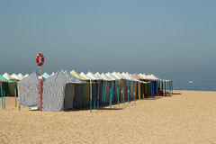 Beach Tents in Portugal Royalty Free Stock Image