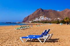 Beach Teresitas in Tenerife - Canary Islands Stock Images