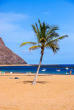 Beach Teresitas in Tenerife - Canary Islands Stock Image