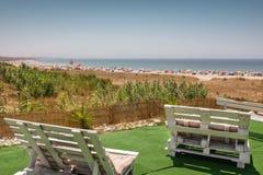 Beach Terrace 2 Royalty Free Stock Photo