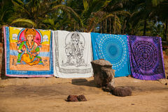 Beach textile shop stock photography