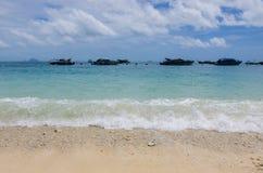 Beach in thailand. Clear water beach in krabi thailand Stock Photography