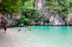 Beach in thailand. Clear water beach in krabi thailand royalty free stock images