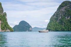 Beach in thailand. Clear water beach in krabi thailand stock photos