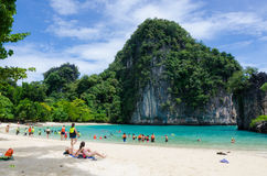 Beach in thailand. Clear water beach in krabi thailand royalty free stock photography