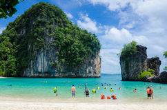 Beach in thailand. Clear water beach in krabi thailand Stock Images