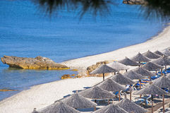 Beach in Thasos, Greece. Aegean sea Royalty Free Stock Images
