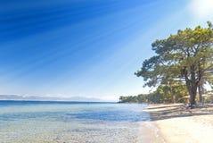 Beach in Thasos, greek island Stock Photo
