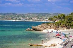 Beach in Thasos. Island, Greece Stock Image
