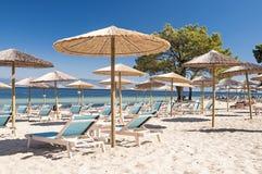 Beach in Thasos. Beach (Pachis) in Thasos island, Greece Stock Photo