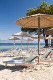 Beach in Thasos. Beach (Pachis) in Thasos island, Greece Stock Image