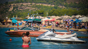 Beach in Thassos island, Greece Stock Photo