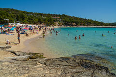 Beach in Thassos island, Greece Stock Photography
