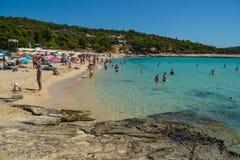 Beach in Thassos island, Greece Stock Photography
