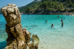 Beach in Thassos island, Greece Royalty Free Stock Image