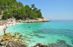Beach in Thassos Stock Photography