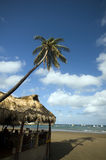 Beach Thatched Roof Restaurant Nicaragua Royalty Free Stock Photo