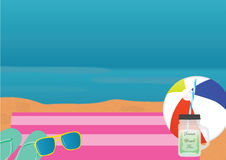 Beach theme background Stock Image