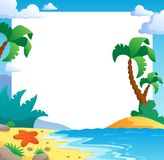 Beach theme frame 1 Royalty Free Stock Photos