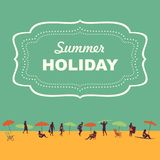 Beach theme Illustration in vintage style Royalty Free Stock Photo