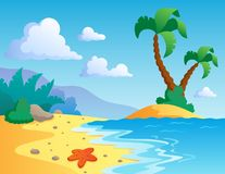 Beach theme scenery 1 Royalty Free Stock Photos