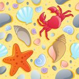 Beach theme seamless background 1 Stock Photography