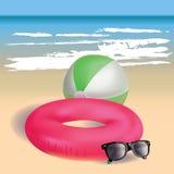 Beach theme. Summer tropical background. stock photos