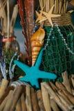 Beach Themed Ocean Wedding Reception Decorations Royalty Free Stock Photography