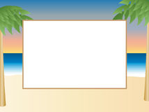 Beach Themed Picture Frame Royalty Free Stock Photography