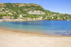 Beach in Theoule sur Mer, France Royalty Free Stock Photo