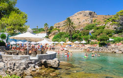 Beach within the thermal springs Kallithea.Rhodes Royalty Free Stock Image