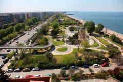 Beach of Thessaloniki - Greece stock image