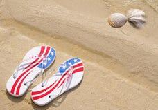 Beach thongs Royalty Free Stock Image