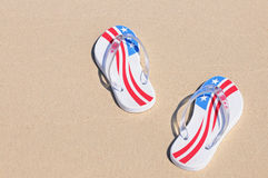 Beach Thongs Royalty Free Stock Photo