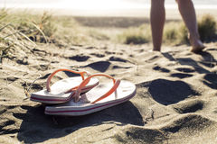 Beach Thongs Royalty Free Stock Images
